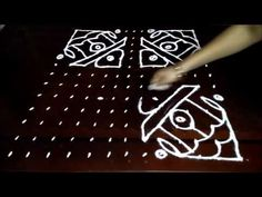 Simple house kolam designs with stright Rangoli Designs With Dots, Kolam Designs, Dot Designs, Simple House, Youtube, Cards, Maps, Playing Cards, Youtubers