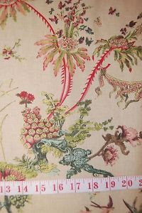 HD929-Toile-Voyages-Asian-Turtle-Exotic-Hand-Print-Linen-Fabric-Drapery-Fabric