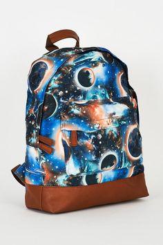 Galaxy Print Blue Canvas Backpack Design Bag http://ladiesfashionnow.com/products/visata-004