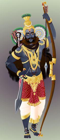 Kirata Mooorthy, Shiva as a hunter
