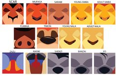 Minimalist Lion King Icons by Samoht-Lion on DeviantArt