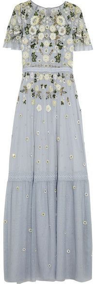 Needle & Thread - Embellished Tulle Gown - Light blue