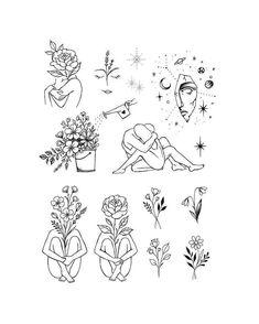 Cute Tats, Cute Tiny Tattoos, Dainty Tattoos, Mini Tattoos, Small Tattoos, Little Tattoos, Line Art Tattoos, Tattoo Flash Art, Tattoo Drawings