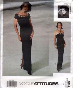 1244 Vogue Sewing Pattern Jennifer George Misses Dress Close Fitting SZ 10 Uncut #Vogue #EveningDress