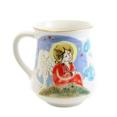 $26.00 Hand Painted Mug from the Ceramic Workshop of St. Elisabeth Convent - To learn more: http://catalog.obitel-minsk.com/ceramics-workshop - Worldwide Delivery - #CatalogOfGoodDeeds #pottery #ceramic #handmade #order #purchase #buy #gift #souvenir #present #cup #mug