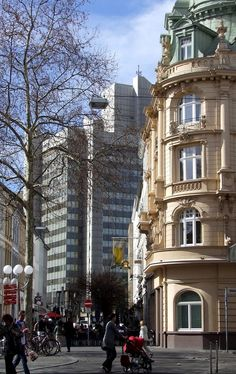 Architectural contrasts in Bonn, Germany
