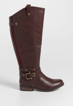 Susan wide calf boot with buckles and gore (original price, $59.00) available at #Maurices