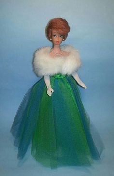 Bubblecut Barbie wearing Senior Prom dress with stole from Enchanted Evening (from the collection of Russell Gandy)