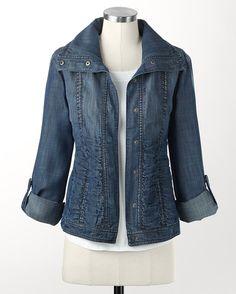 Shirred tencel jacket - [K14331]