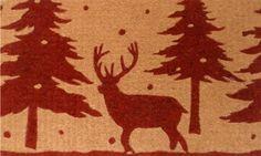 Home & More 12101 Christmas Reindeer Doormat