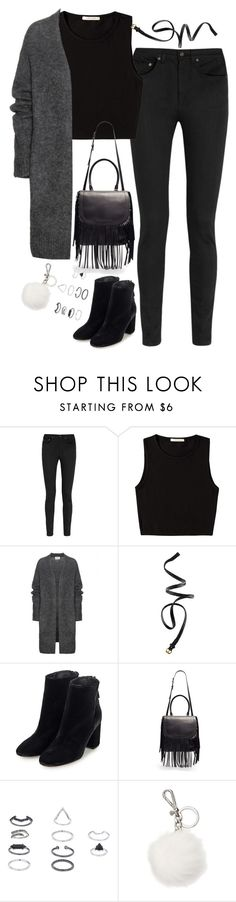 """""""Untitled#3889"""" by fashionnfacts ❤ liked on Polyvore featuring Yves Saint Laurent, Pieces, Acne Studios, H&M, Topshop and Michael Kors"""