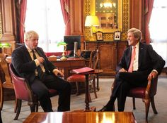 Welcomed @JohnKerry to @foreignoffice before hosting talks w/ partners on #Syria & #Yemen