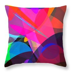 Ellipses 4 Throw Pillow by Chris Butler.  #pillow #throwpillow #homedecor #decor #design #interiordesign #abstract #home #comfort #cushion #colorful