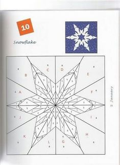 Snowflake 10 Foundation Paper Pieced quilt block - I think I already have pinned this but maybe not with the pattern