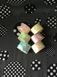Pacific Pastels~Lapis Napkin Rings~Set of 6 by RubyJeanRummage on Etsy