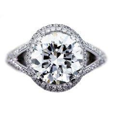 Platinum Diamond Engagement Ring 4.10ct Round GIA Certificate « Wedding-Engagement Rings Wedding-Engagement Rings