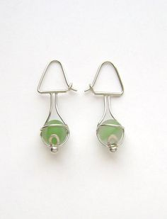 Sea Glass Jewelry  Sterling Green Sea Glass by SignetureLine, $100.00