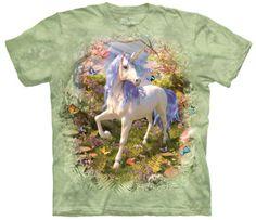 Unicorn-Forest-Adult-Fantasy-Unisex-T-Shirt-The-Mountain