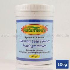 Moringasamen Pulver, Pflanzliches Nahrungsergänzungsmittel, Moringa Seed Powder, Amritha Naturmeds, 100g