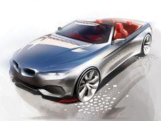 Photographs of the 2014 BMW 4 Series Convertible. An image gallery of the 2014 BMW 4 Series Convertible. Bmw Design, Car Design Sketch, Auto Design, Bmw Sketch, Convertible, Bmw 4 Series, New Bmw, Car Drawings, Car And Driver