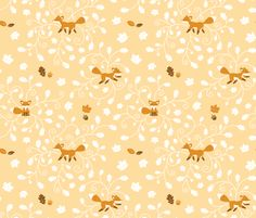Fall is for Foxes fabric by jgreenwalt on Spoonflower - custom fabric    Foxy Family!