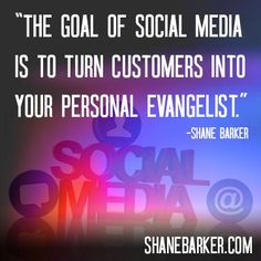 The goal of social media is to turn customers into your personal evangelist How To Find Out, Inspirational Quotes, Social Media, Goals, Twitter, Quotes Inspirational, Inspiring Quotes, Social Networks, Inspiration Quotes