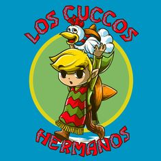 LOS CUCCOS HERMANOS T-Shirt $12 Legend of Zelda tee at Once Upon a Tee!
