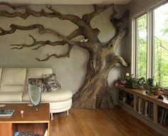 Cat Tree Real Tree Branches | REAL cat tree!! | Dream home decor....