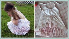 Free pattern: Bustle back halter dress for little girls