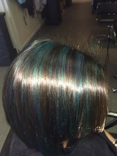 Teal highlights! Gorgeous :)