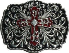 Artistic Cross belt buckle