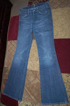 7 for all mankind premium denim jeans womens 24 00 0 A pocket medium wash #7ForAllMankind #BootCut