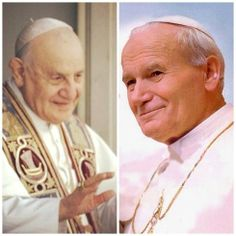 Pope John XXIII and Pope John Paul II (with images, tweets) · 2popesaints · Storify