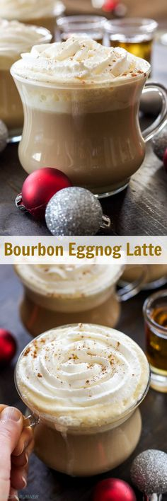 Bourbon Eggnog Latte | Cozy up this holiday season with a dairy-free ...