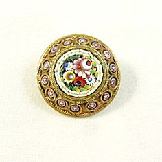 Tiny Mosaic Lace Pin Brooch.