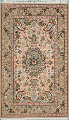 "Buy Esfahan Persian Rug 3' 5"" x 5' 8"", Authentic Esfahan Handmade Rug"