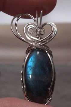 Sterling Silver Blue Fire Labradorite Wire by LittleRedJewelDesign, $62.00