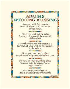Apache Wedding Blessing   Apache Wedding Blessing print designed by master calligrapher Sherrie ...