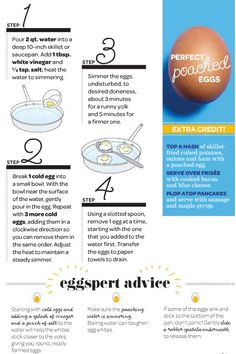 {how to poach an egg} great tips! worked like a charm!!