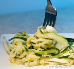 Zucchini Spaghetti - a quick and delicious way to prepare zucchini