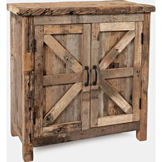 You'll ❤ The Eden Prairie 2 Door Accent Cabinet Heavily Distressed Reclaimed Wood Barn Wood Crafts, Barn Wood Projects, Old Barn Wood, Reclaimed Wood Projects, Repurposed Wood, Pallet Projects, Barnwood Ideas, Rustic Wood Decor, Fun Projects