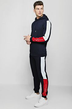 Mens Sweat Suits, Mens Tracksuit Set, Track Suit Men, Stylish Boys, Hoodie Outfit, Sport Wear, Boy Outfits, Colour Block, Men Casual