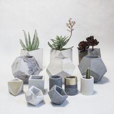 Concrete Geometric's stylish vases.