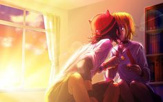 SKET Dance ~ Bossun x Onihime -- Don't particular care for this ship, but this is some awesome artwork
