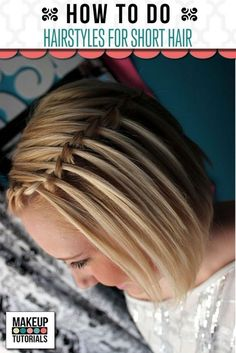 DIY Hairstyles: For Short Hair. Quick and easy updo for teens. Beauty Tips and Tricks. | Makeup Tutorials http://makeuptutorials.com/makeup-tutorials-hairstyles-for-short-hair/