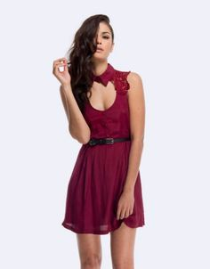 Jorge Adore Lace Dress in Raspberry