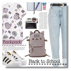 """""""#PVxPusheen-TOP Fashion Sets Of 12th.8.2016"""" by luna-jancek ❤ liked on Polyvore featuring River Island, Pusheen, adidas Originals, Bobbi Brown Cosmetics, Anja, Smythson, Paper Mate, contestentry and PVxPusheen"""