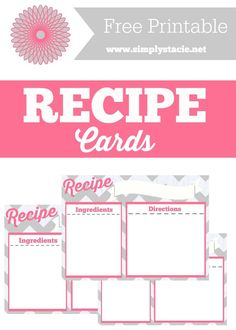 Recipe Cards Printable - Organize your recipes in style with this free recipe card printable. It beats using an old napkin or receipt