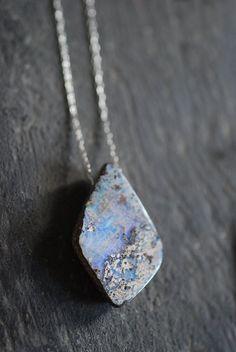Raw Boulder Opal Pendant. $85.00, via Etsy.- clairvoyance, heal eyes