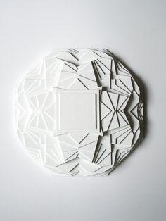 Stunning kaleidoscope white sculpture, by Maud Vantours via Etsy.